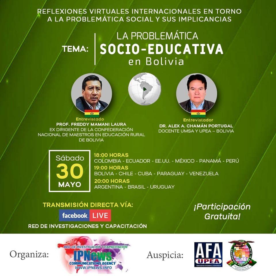 PROBLEMÁTICA SOCIO EDUCATIVA EN BOLIVIA
