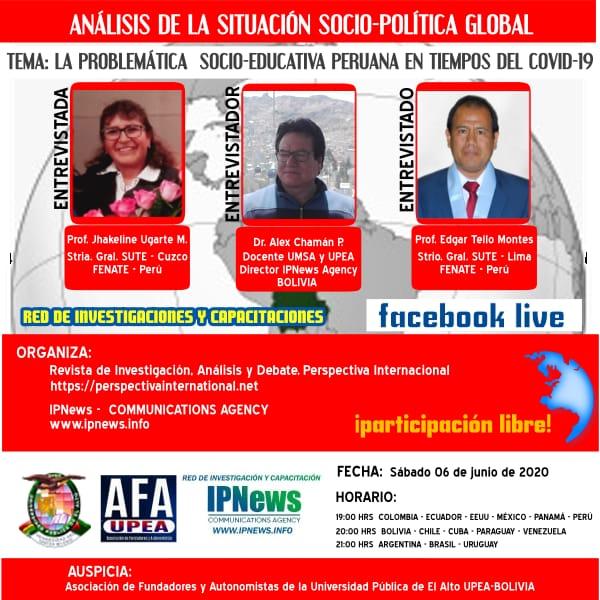 PROBLEMÁTICA SOCIO-EDUCATIVA PERUANA EN EL CONTEXTO DEL COVID-19