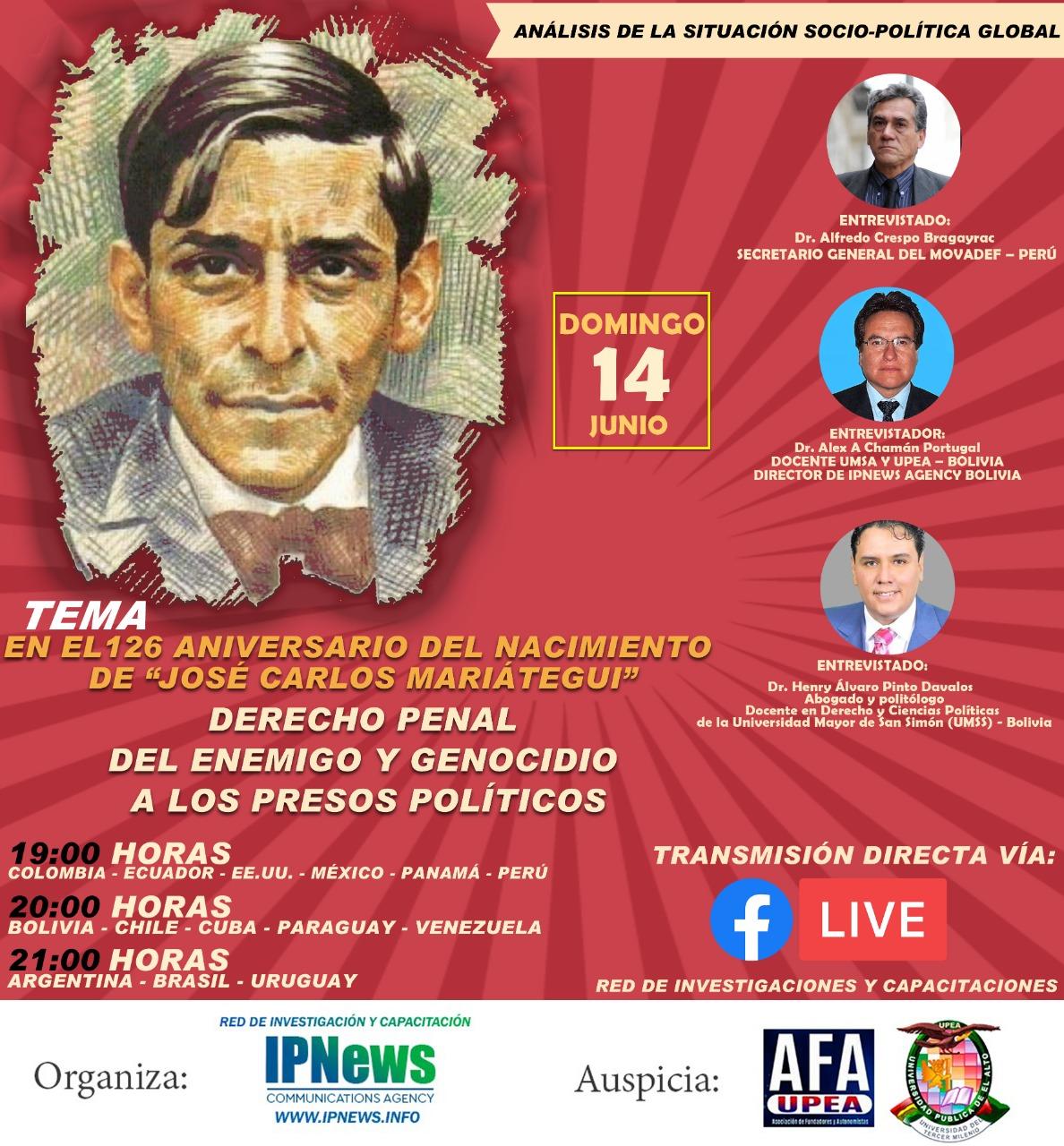 PERÚ: DERECHO PENAL DEL ENEMIGO Y GENOCIDIO CONTRA LOS PRESOS POLÍTICOS.