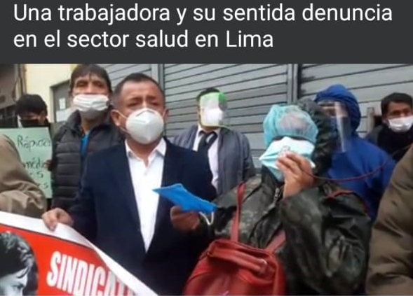 PERU: TRABAJADORA DENUNCIA AL SECTOR SALUD