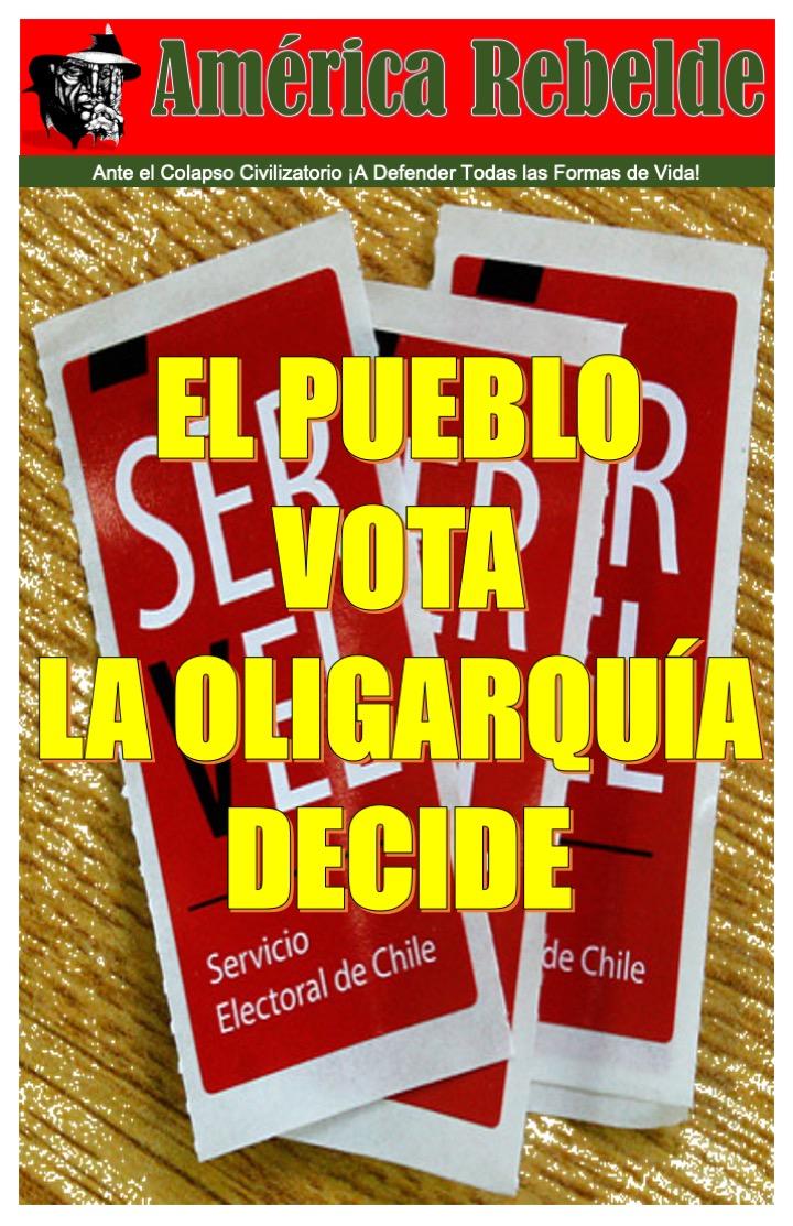 CHILE: DESAPROBEMOS EL PLEBISCITO DEL 25 DE OCTUBRE.