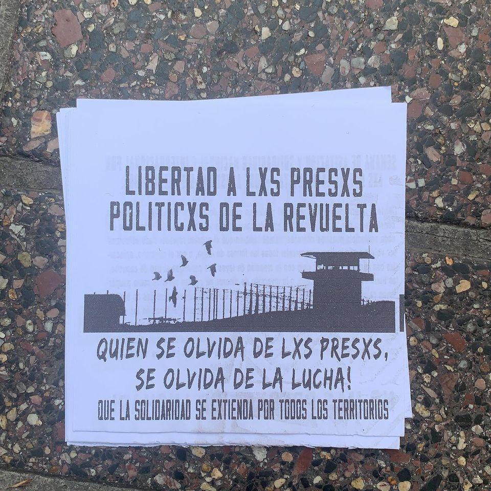 CHILE: DECLARACION DE FAMILIARES Y AMIGOS DE LOS  PRESOS POLÍTICOS