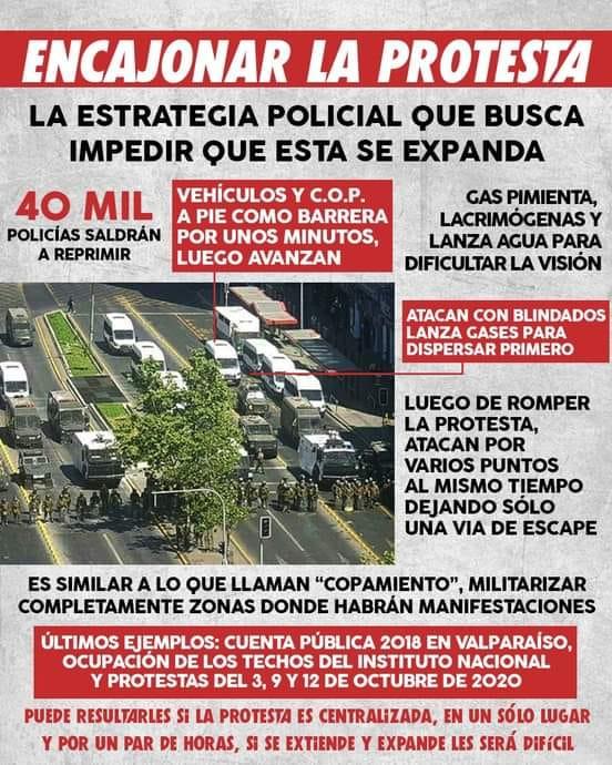 CHILE: TODO EL ESTADO CONTRA EL PUEBLO EN LUCHA