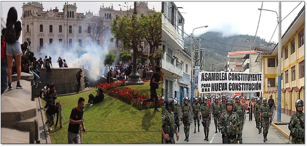 PROTESTAS POR EL NUEVO PRESIDENTE DEL PERÚ
