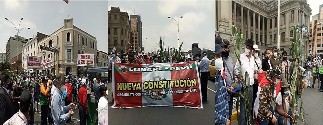 MARCHA NACIONAL DE LAS RONDAS CAMPESINAS Y URBANAS EN PERÚ