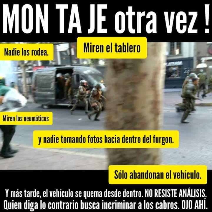CHILE: TERRORISTAS INCENDIAN CARRO POLICIAL