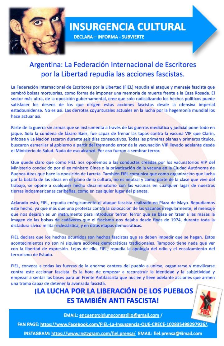 TERRORISMO FASCISTA EN ARGENTINA
