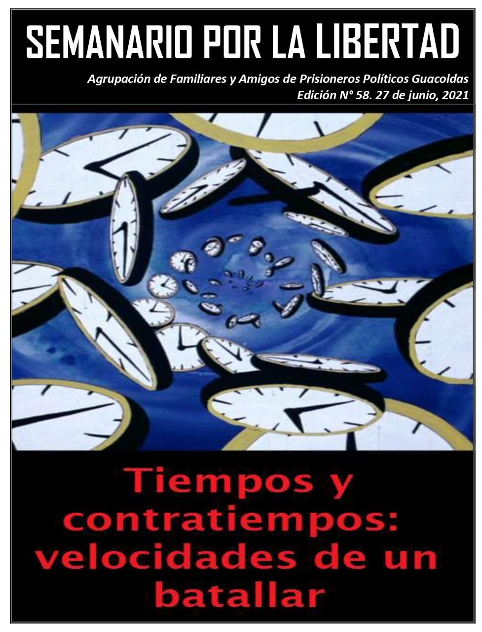 CHILE: PRESOS POLÍTICOS. SEMANARIO POR LA LIBERTAD Nº 58