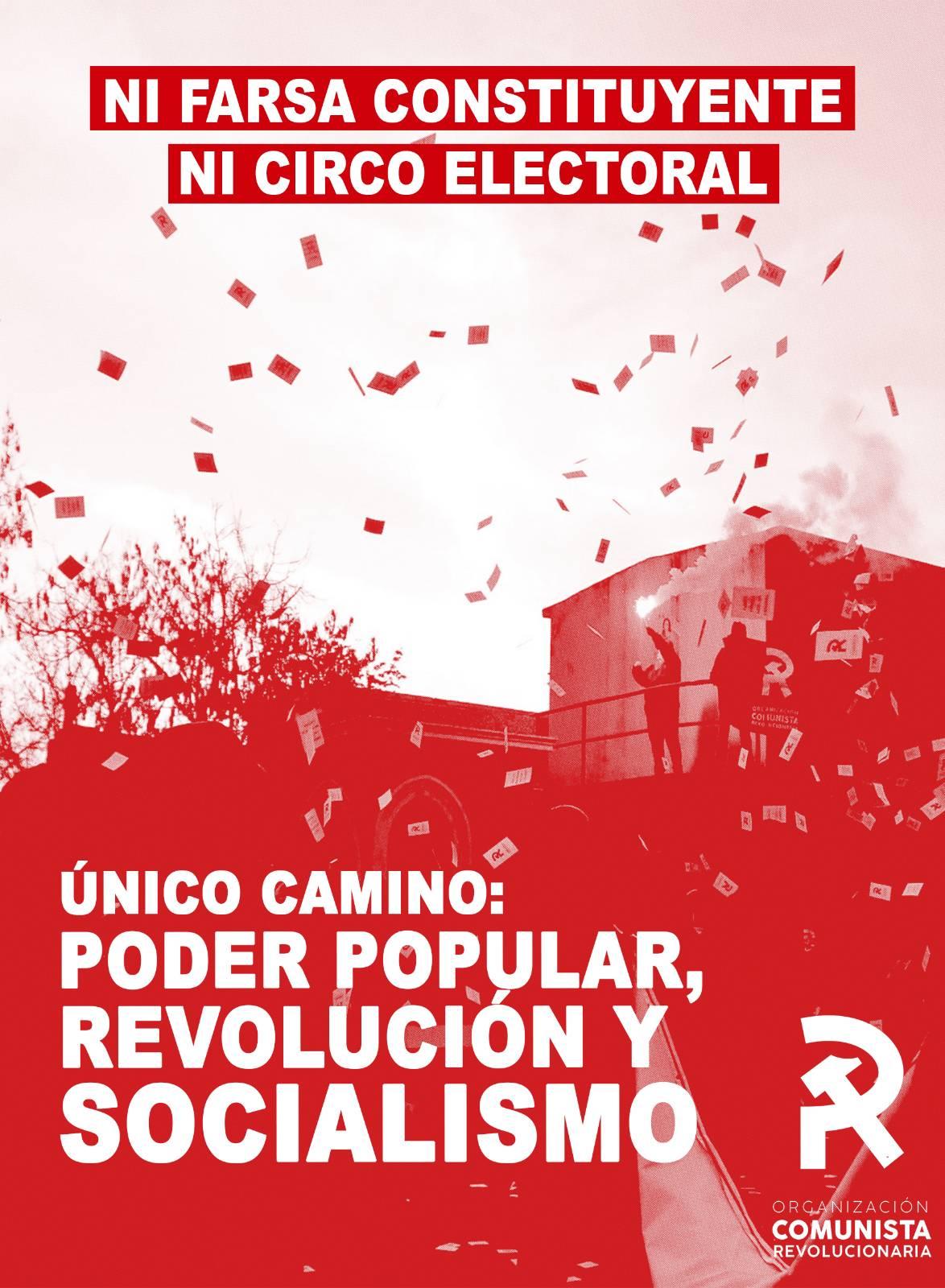 CHILE: SOBRE EL PANTANO ELECTORAL HABLA LA ORGANIZACIÓN COMUNISTA REVOLUCIONARIA
